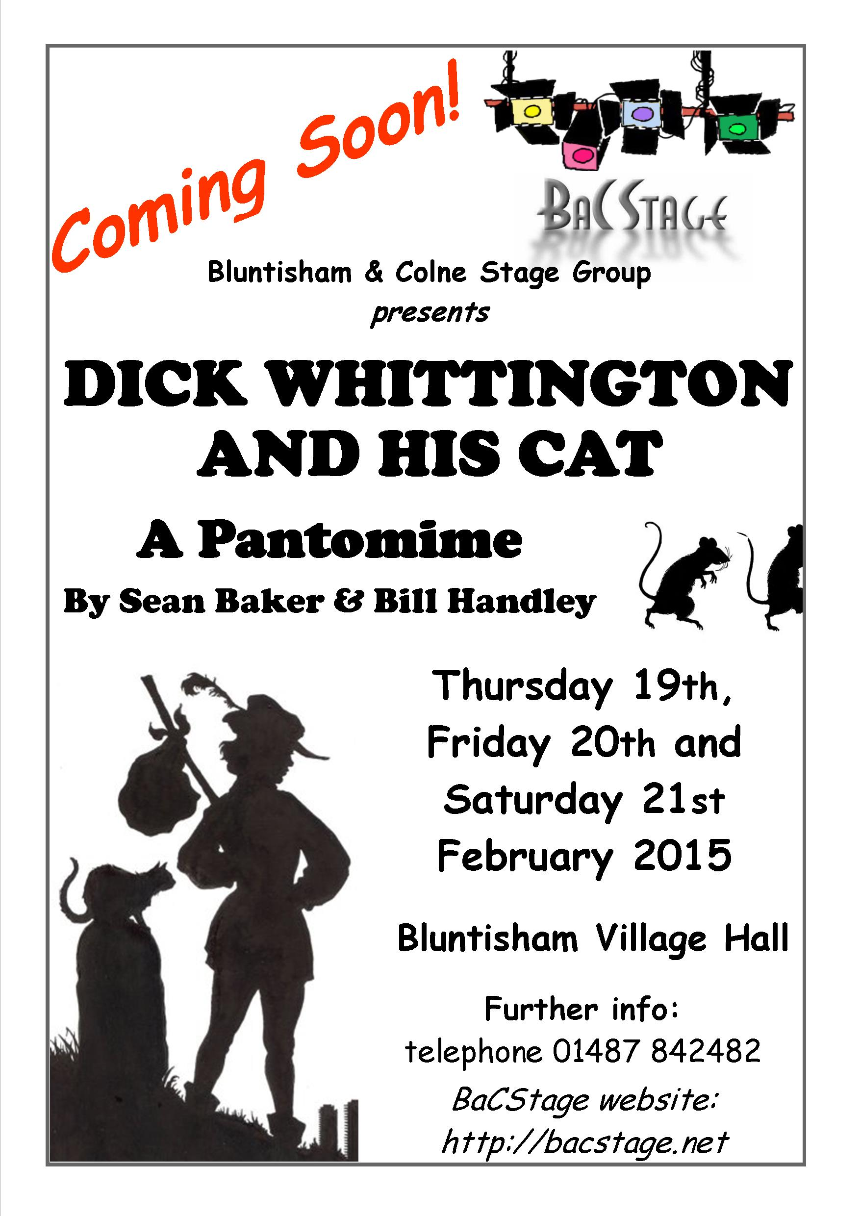 Coming Soon - Dick Whittington and his Cat